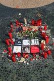 Tributo en Barcelona, junio '09 de Michael Jackson Fotos de archivo libres de regalías