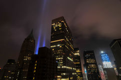 Tributo en las luces - World Trade Center Fotos de archivo libres de regalías