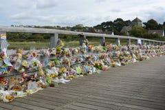Tributo floral del desastre de Shoreham Airshow Foto de archivo libre de regalías