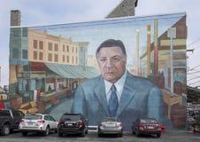 Tributo a Frank Rizzo un mural en el mercado italiano, Philadelphia del sur Imagen de archivo libre de regalías