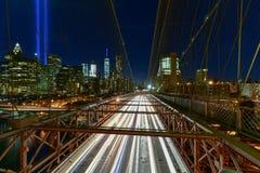 Tributo na luz - 11 de setembro Fotografia de Stock