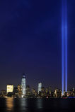Tributo na luz 9/11 Manhattan 2013 Imagens de Stock Royalty Free