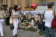 Tributo pasado a Michael Jackson. Moscú Imagen de archivo libre de regalías