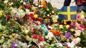 Tributos florais video estoque