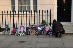 Tributos a la ex iglesia de monasterio primera británica Margret Thatcher Who Died L Foto de archivo libre de regalías