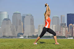 Triceps Exercise in Urban Park Stock Photos