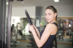 Triceps exercise Stock Image