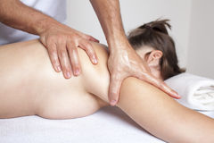 Triceps massage Royalty Free Stock Images