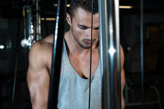 Triceps Pulldown Workout Royalty Free Stock Photo