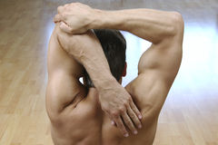 Triceps Stretch Royalty Free Stock Photos