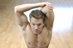 Triceps stretch Stock Photo