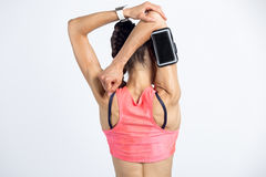 Triceps stretch exercise Stock Photo