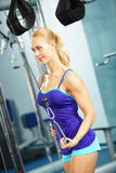 Triceps workout Royalty Free Stock Photo