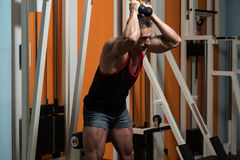 Triceps Workout Royalty Free Stock Image