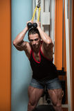 Triceps Workout Royalty Free Stock Photography