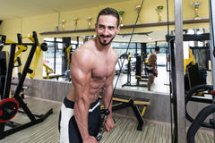 Triceps Workout Stock Photography