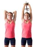 Tricepsförlängning Fotografering för Bildbyråer
