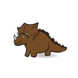 Triceratop dinosaur cartoon drawing Stock Image