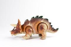 Triceratop dinosaurieleksak Arkivbild