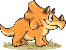 Triceratopo, isolato su bianco Fotografia Stock