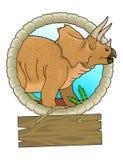 triceratops Arkivfoton