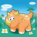 Triceratops illustrazione di stock