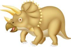 Triceratops cartoon. Illustration of Triceratops cartoon isolated on white Stock Photos