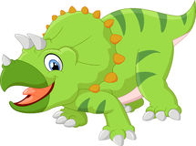 Triceratops cartoon Royalty Free Stock Image