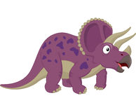 Triceratops cartoon posing Royalty Free Stock Image