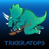 Triceratops cute character dinosaurs Royalty Free Stock Photo