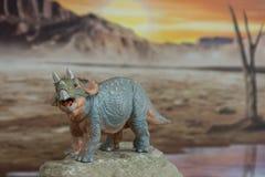 Triceratops del bebé en fondo jurásico fotos de archivo libres de regalías