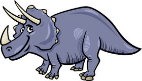 Triceratops dinosaur cartoon illustration Stock Photos