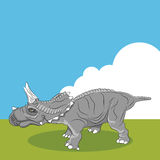 Triceratops Dinosaur Profile Royalty Free Stock Images