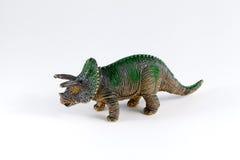 Triceratops, dinosaur toy. Triceratops dinosaur toy isolated over white background Royalty Free Stock Image
