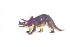Triceratops dinosaur toy. On white background Royalty Free Stock Photo