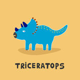 Triceratops dinosaur vector illustration Royalty Free Stock Photography