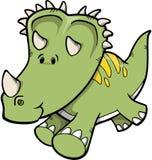 Triceratops-Dinosaurier-Vektor lizenzfreie abbildung