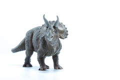 Triceratops dinosaurs toy  on white background - front v Royalty Free Stock Photos