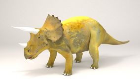 Triceratops-dinossauro Fotografia de Stock Royalty Free