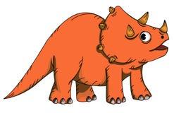 Triceratops dos desenhos animados ilustração stock