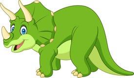 Triceratops dos desenhos animados isolado no fundo branco Fotografia de Stock Royalty Free