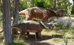 Triceratops Family -Late Cretaceous /76-65 million years ago. I Stock Photos