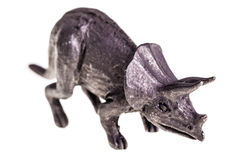 Triceratops figurine Stock Photos
