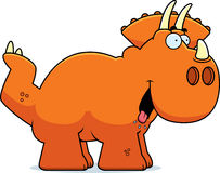 Triceratops hambriento de la historieta ilustración del vector