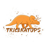 Triceratops. Large orange dinosaur Stock Image