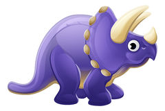 Triceratops lindo del dinosaurio de la historieta Fotos de archivo libres de regalías