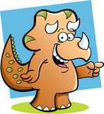 Triceratops pointing Royalty Free Stock Photo