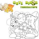 Triceratops prehistórico lindo del dinosaurio, ejemplo divertido libre illustration