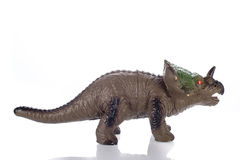 Triceratops Toy Isolated On White Royalty Free Stock Photography