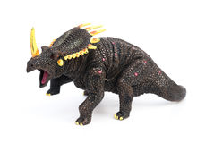 Triceratops toy on white background Stock Image